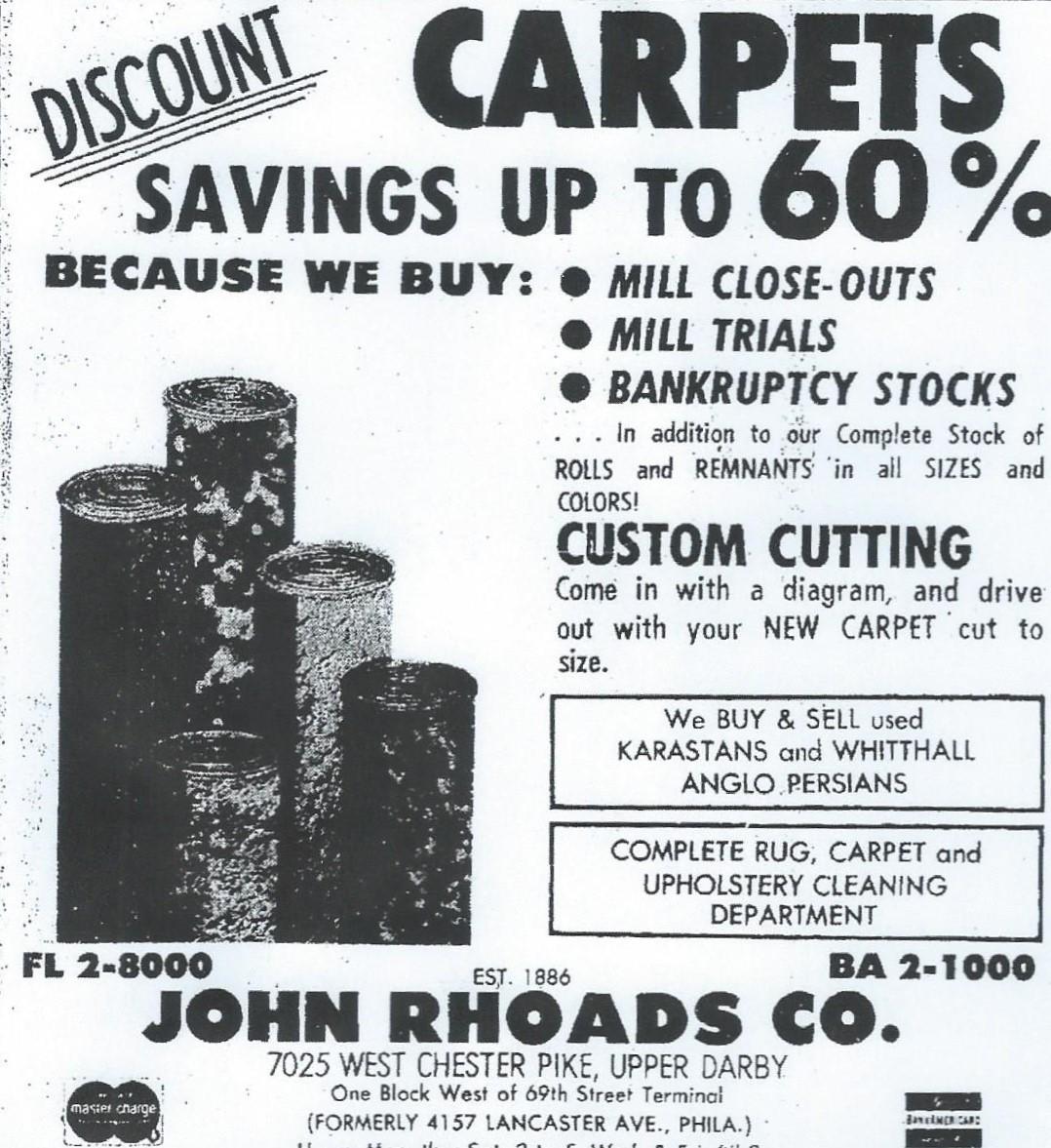 John Roads Co. advertisement