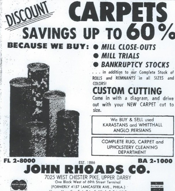 John Roads Co. advertisement