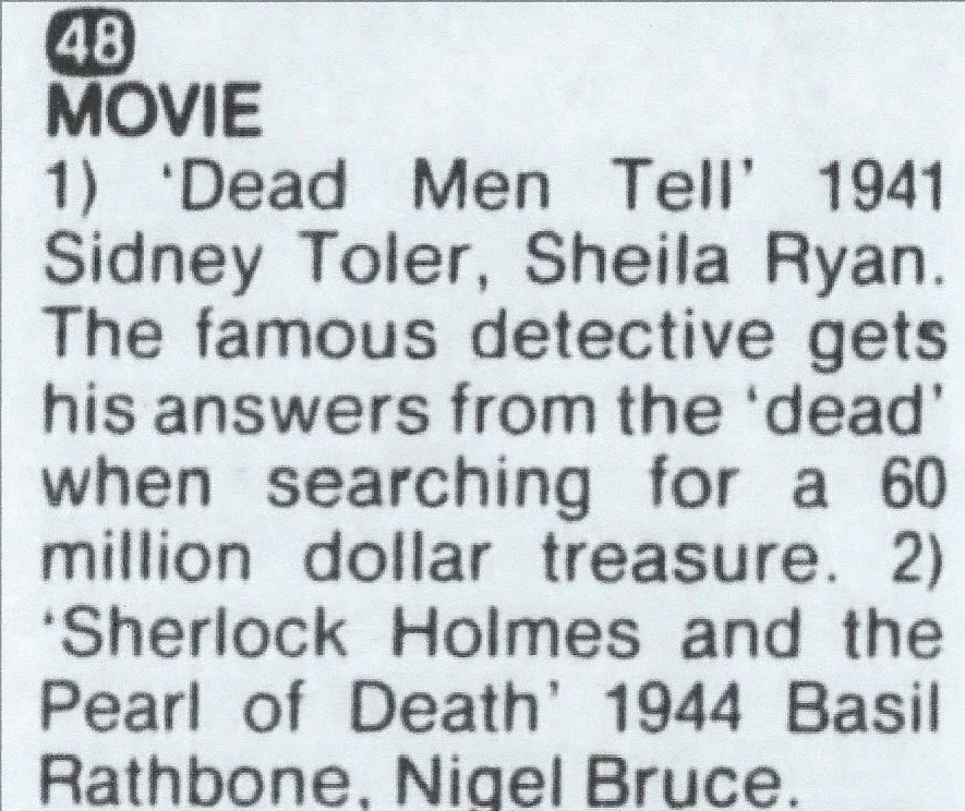 TV lising July 24 1976