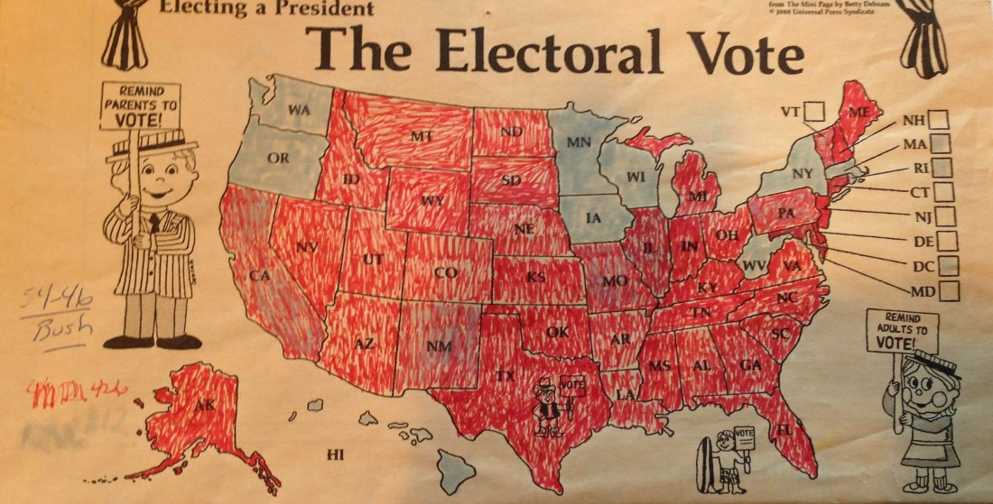 1988 Presidential map