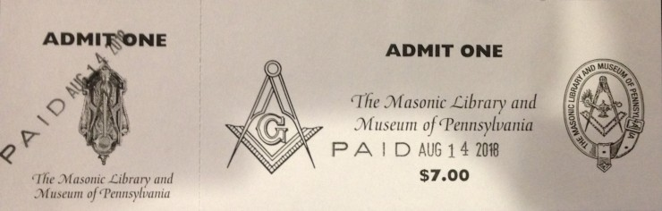 Masonic Ticket