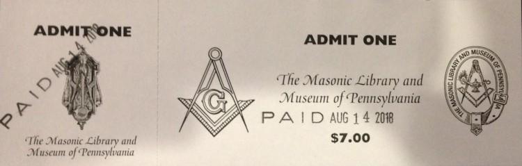 Masonic Ticket