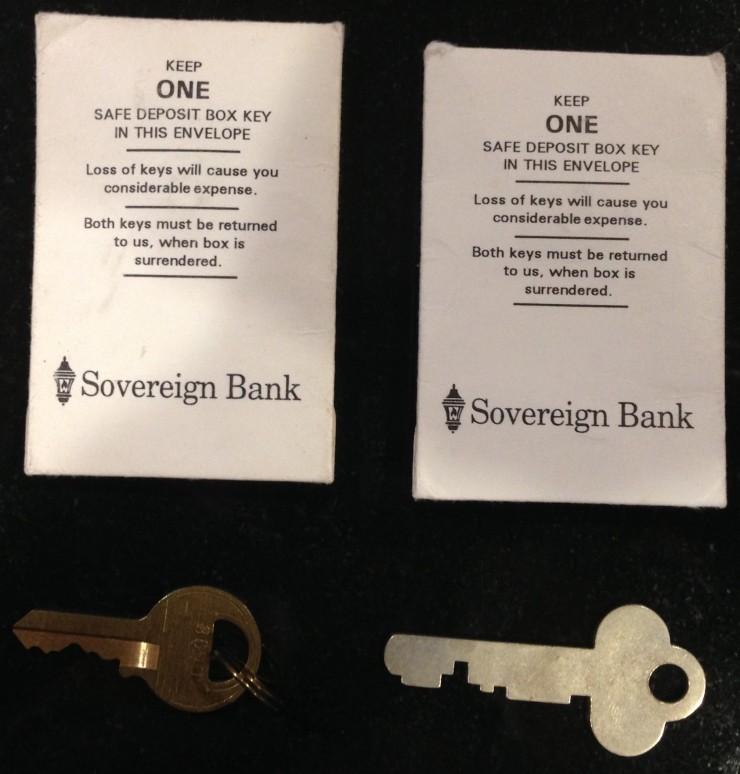 Safety Deposit Box keys