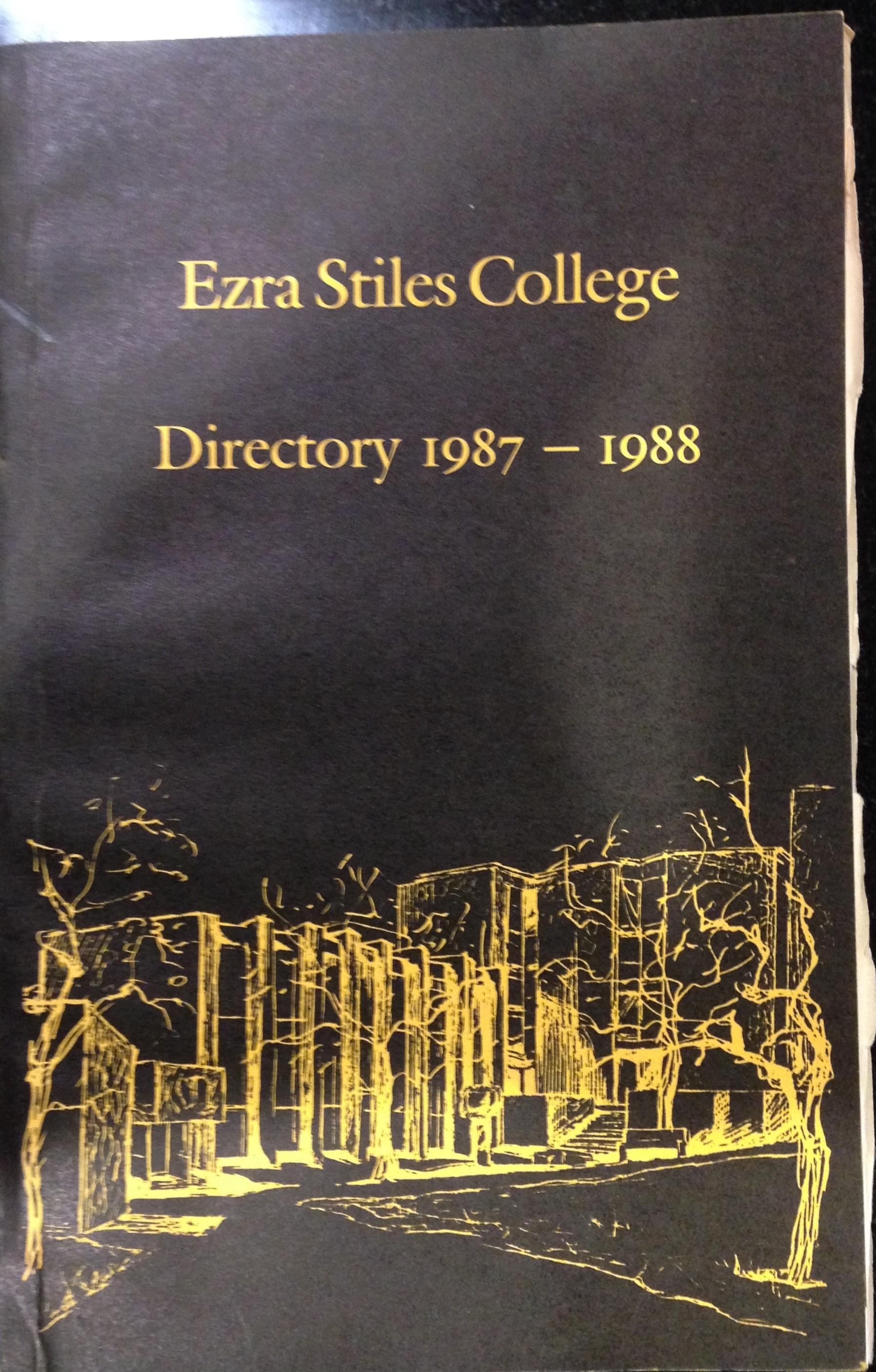Ezra Stiles Directory 1987-88
