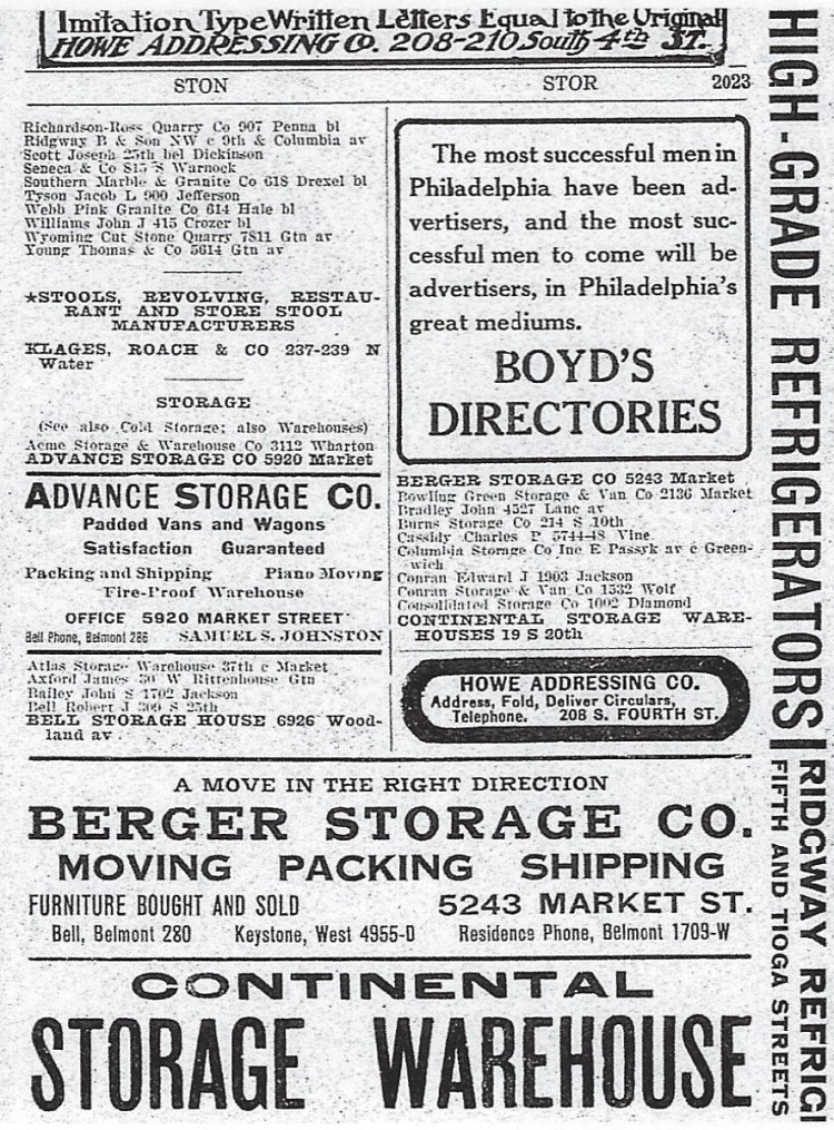Berger Storage Company 1915.jpg