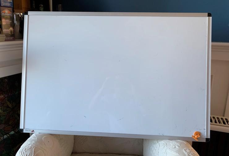 The white board awaits