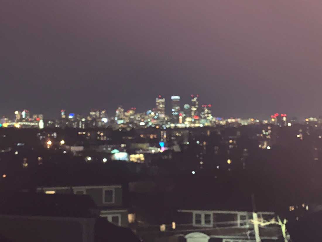 Misty-eyed view of Boston